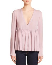 Elizabeth and James - Purple Silk Aracell Blouse - Lyst