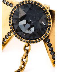 Alexander McQueen   Metallic Jewel Drop Choker   Lyst