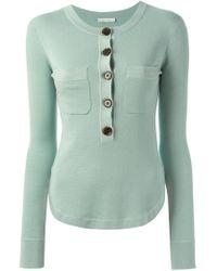 Chloé - Blue Round Neck Sweater - Lyst