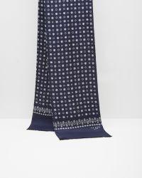 Ted Baker - Blue Reversible Paisley Silk Scarf for Men - Lyst