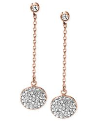 Michael Kors | Pink Pavé Disc Drop Earrings | Lyst