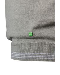 "BOSS Green - Gray ""sweater 'rime_pf' In Cotton Blend\"" for Men - Lyst"