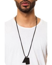 Black Scale - The Black Trinity Leather Dog Tag Necklace for Men - Lyst