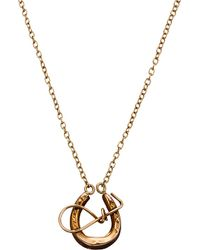 Annina Vogel | Metallic 9ct Yellow-gold Horseshoe Necklace | Lyst