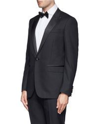 Lanvin - Green Satin Peaked Lapel Tuxedo Suit for Men - Lyst