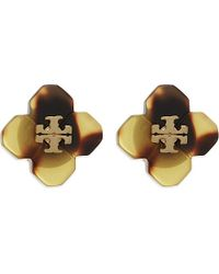 Tory Burch | Yellow Tortoise Shell Stud Earrings | Lyst