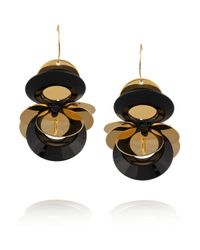 Marni | Black Goldtone Resin Earrings | Lyst