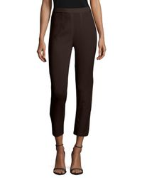 Misook - Brown Slim Ankle Pants - Lyst