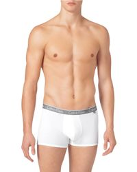 Calvin Klein - White Ck One Stretch Cotton Trunks for Men - Lyst