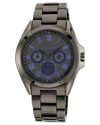 Vince Camuto | Gray Women's Stainless Steel Adjustable Bracelet Watch 42mm Vc-5187blgy | Lyst