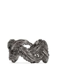 Valentino - Gray Feather Cuff - Lyst