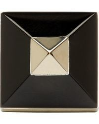 Givenchy | Metallic Gold And Black Pyramid Ring | Lyst