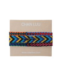 Chan Luu | Multicolor 3 Pack Woven Friendship Bracelet with Crystals | Lyst