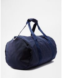 Original Penguin - Blue Duffle Bag With All Over Print for Men - Lyst