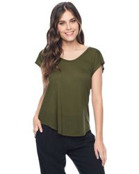 Splendid | Green U-neck Short Sleeve Top | Lyst