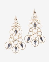 Alexis Bittar | Metallic Chainmail Chandelier Earrings | Lyst