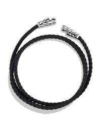 David Yurman | Metallic Chevron Triple-wrap Bracelet In Black for Men | Lyst