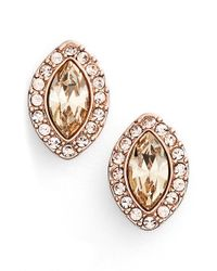 Givenchy | Metallic 'legacy' Marquise Stud Earrings | Lyst