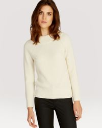 Karen Millen | Natural Sweater - '50S Boat Neck | Lyst
