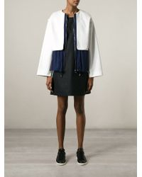 See By Chloé - Blue Front Zip Jacket - Lyst