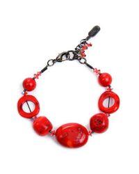 Dabby Reid | Pink Shell Bead Bracelet - Coral | Lyst