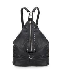 Urban Originals | Black Matrix Studded Faux Leather Backpack | Lyst