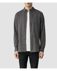 AllSaints - Gray Blackshear Shirt for Men - Lyst