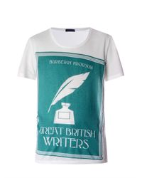 Burberry Prorsum - White Book Cover-Print T-Shirt for Men - Lyst
