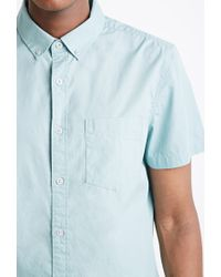 Forever 21 | Green Button-collar Shirt You've Been Added To The Waitlist for Men | Lyst
