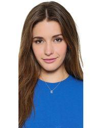 Sarah Chloe - Metallic Diamond Letter Gold Necklace - Lyst