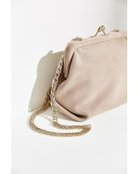 Kimchi Blue | Pink Suede Kiss Lock Bag | Lyst