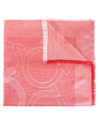 Ferragamo - Pink Ganco Woven Scarf - Lyst