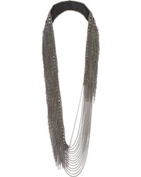 Fiona Paxton | Metallic Trina Gunmetaltone Chain Necklace | Lyst