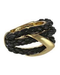 Alexis Bittar | Metallic Orbiting Leather Ring | Lyst