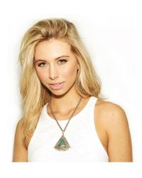 Natalie B. Jewelry - Blue Natalie B. Pyramid Of Love Necklace In Malachite - Lyst