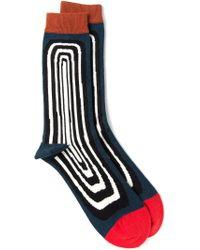 Henrik Vibskov - Blue 'optical' Socks for Men - Lyst