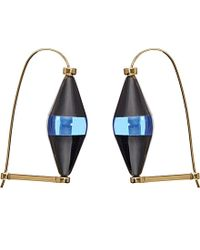 Marni | Blue Horn And Brass Earrings | Lyst
