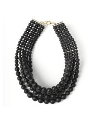 Fallon | Layered Swarovski Choker Black Pearl | Lyst