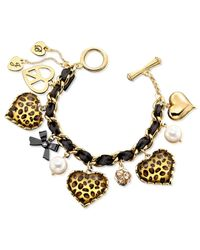 Betsey Johnson | Multicolor Leopard Heart Bracelet | Lyst