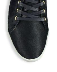 Joie - Black Felton Calf Hair Wedge Sneakers - Lyst