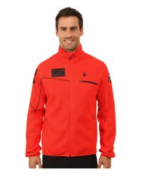 Spyder | Red Alps Full Mid Weight Core Sweater for Men | Lyst