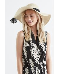 Oasis - Natural Sequin Floppy Hat - Lyst