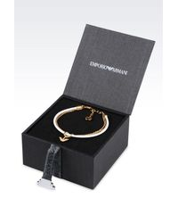 Emporio Armani | White Bracelet And Earrings In Gold-plated Silver | Lyst