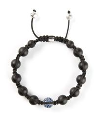 Shamballa Jewels | Black Diamond Embellished Detail Bracelet for Men | Lyst