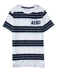 Aéropostale | Blue Aero Striped Logo Graphic T | Lyst