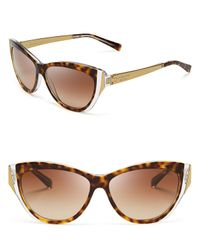 Michael Kors - Brown Caneel Modern Cat Eye Sunglasses - Lyst