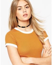 ASOS | Metallic Limited Edition 70's Cube Choker Necklace | Lyst
