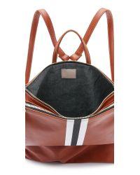 Clare V. - Brown Supreme Agnse Backpack - British Tan/White/Black - Lyst