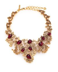 Oscar de la Renta | Metallic Filagree Necklace | Lyst