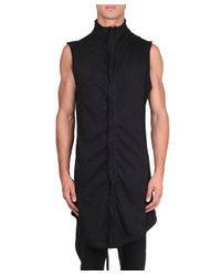 Thom Krom - Black Oversized Cotton Vest for Men - Lyst
